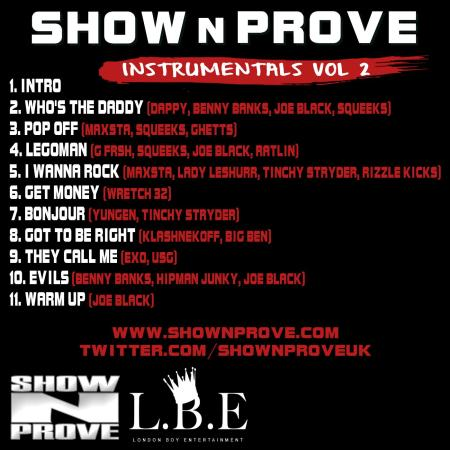 Show N Prove - Instrumentals Volume 2 (BACK COVER)